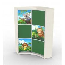 Радиусный шкаф-купе Радион для Детской с фотопечатью (3 вставки)