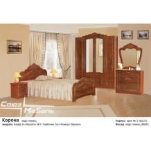 Спальня Корона (кедр глянец)
