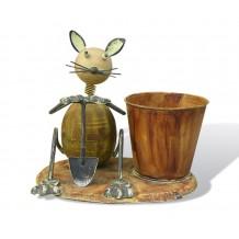 Мышь с ведром и лопатой SWA0215